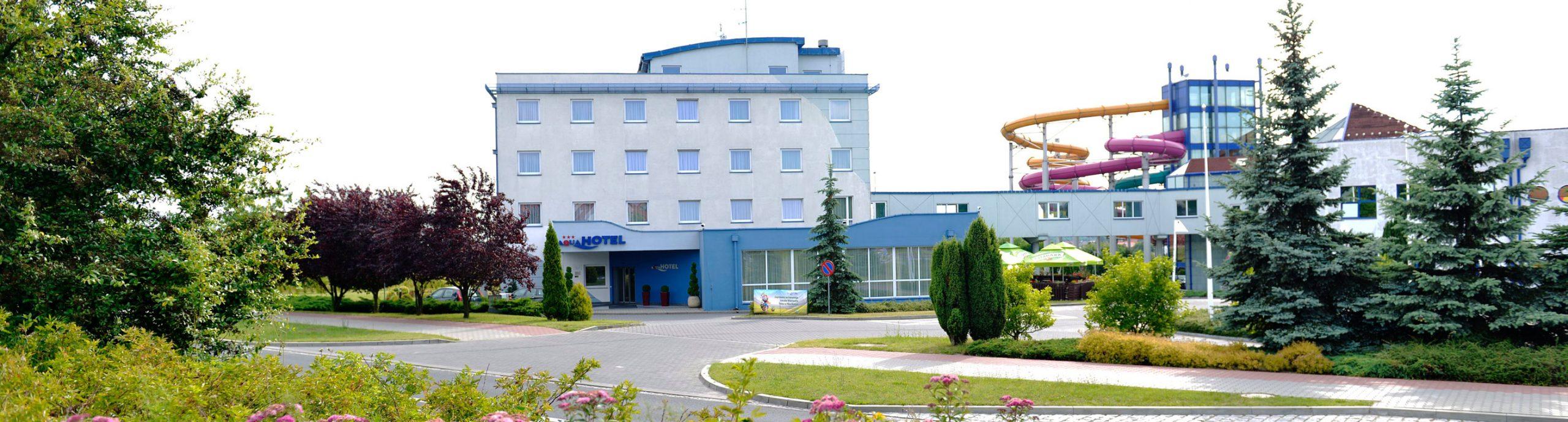 Aquahotel - budynek zzewnątrz